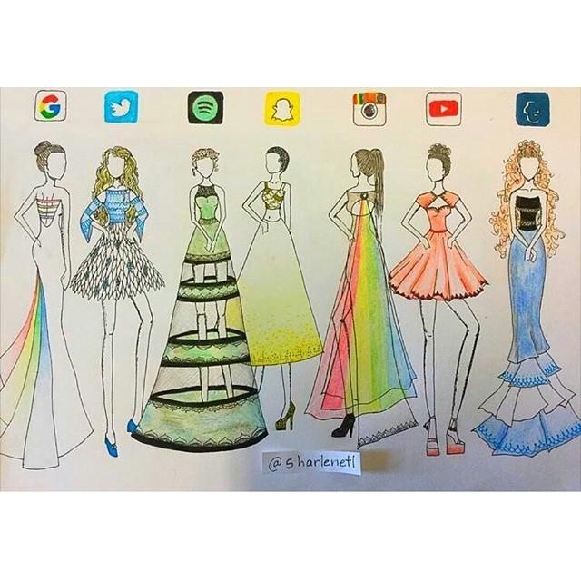 640x640 Social Media Runway Dresses Lt Art Gt Drawings
