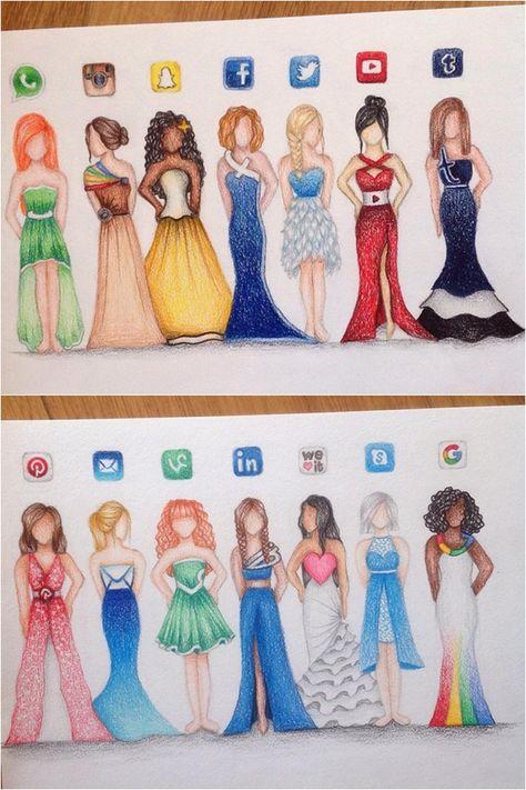 474x711 Social Media Dresses Drawings Drawings, Drawing