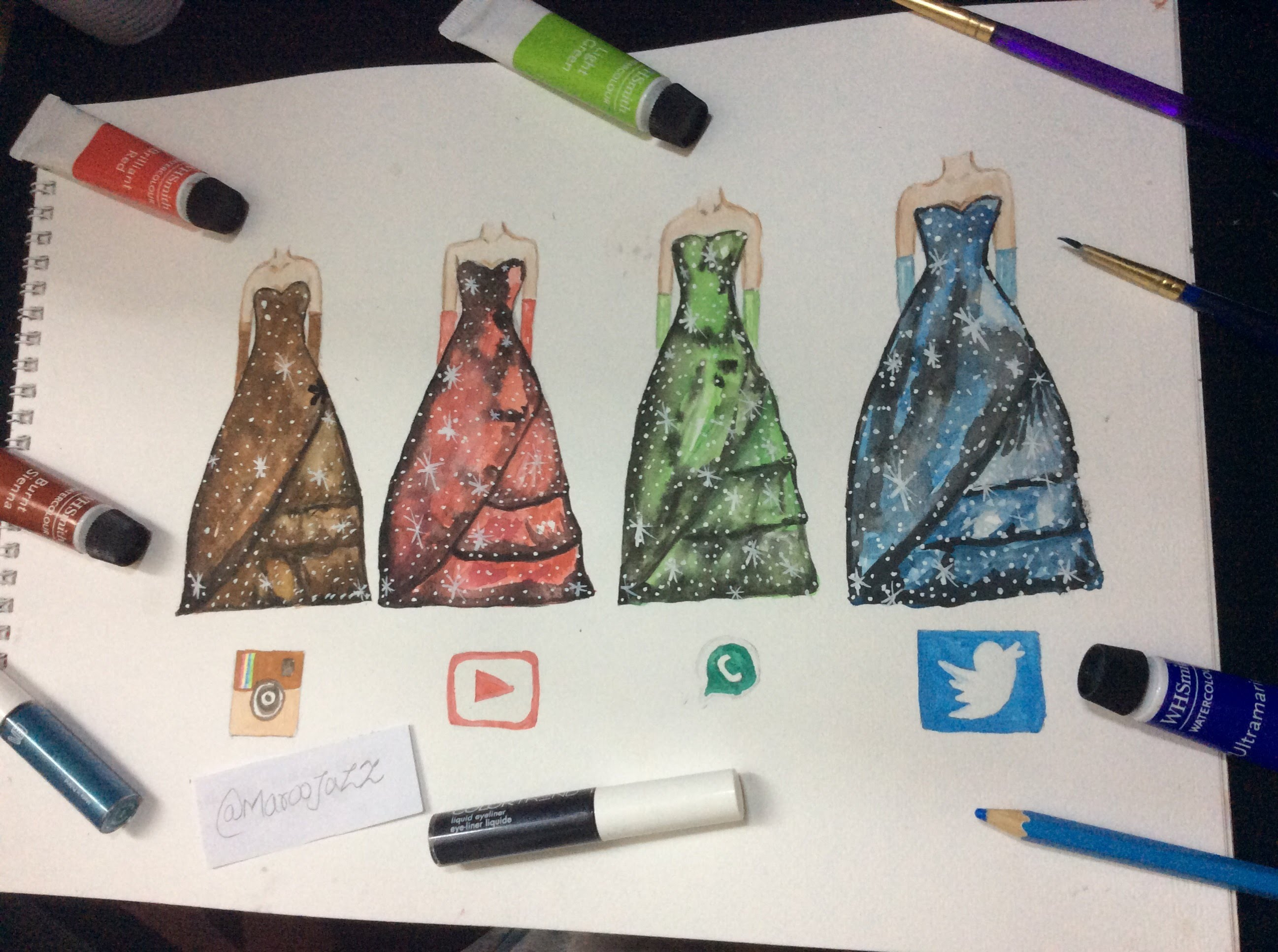 2595x1934 How To Draw 4 Social Media Galaxy Prom