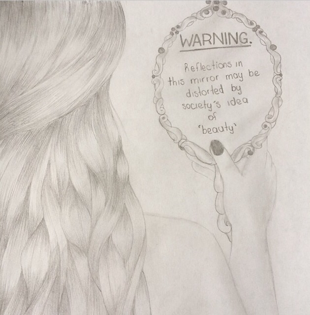 630x640 Society Sucks~reflections~pencil Drawing By Me My Own Art