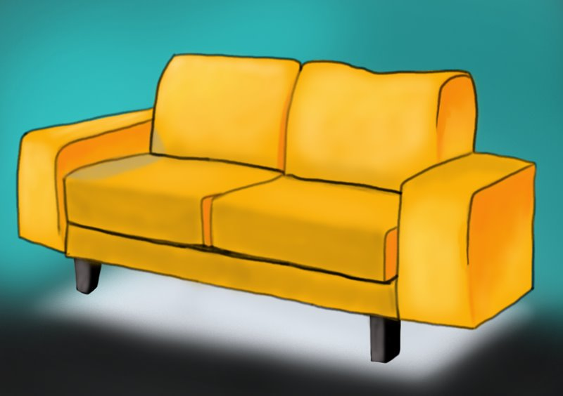 800x564 Learn How To Draw A Couch Furniture Step By Drawing Tutorials