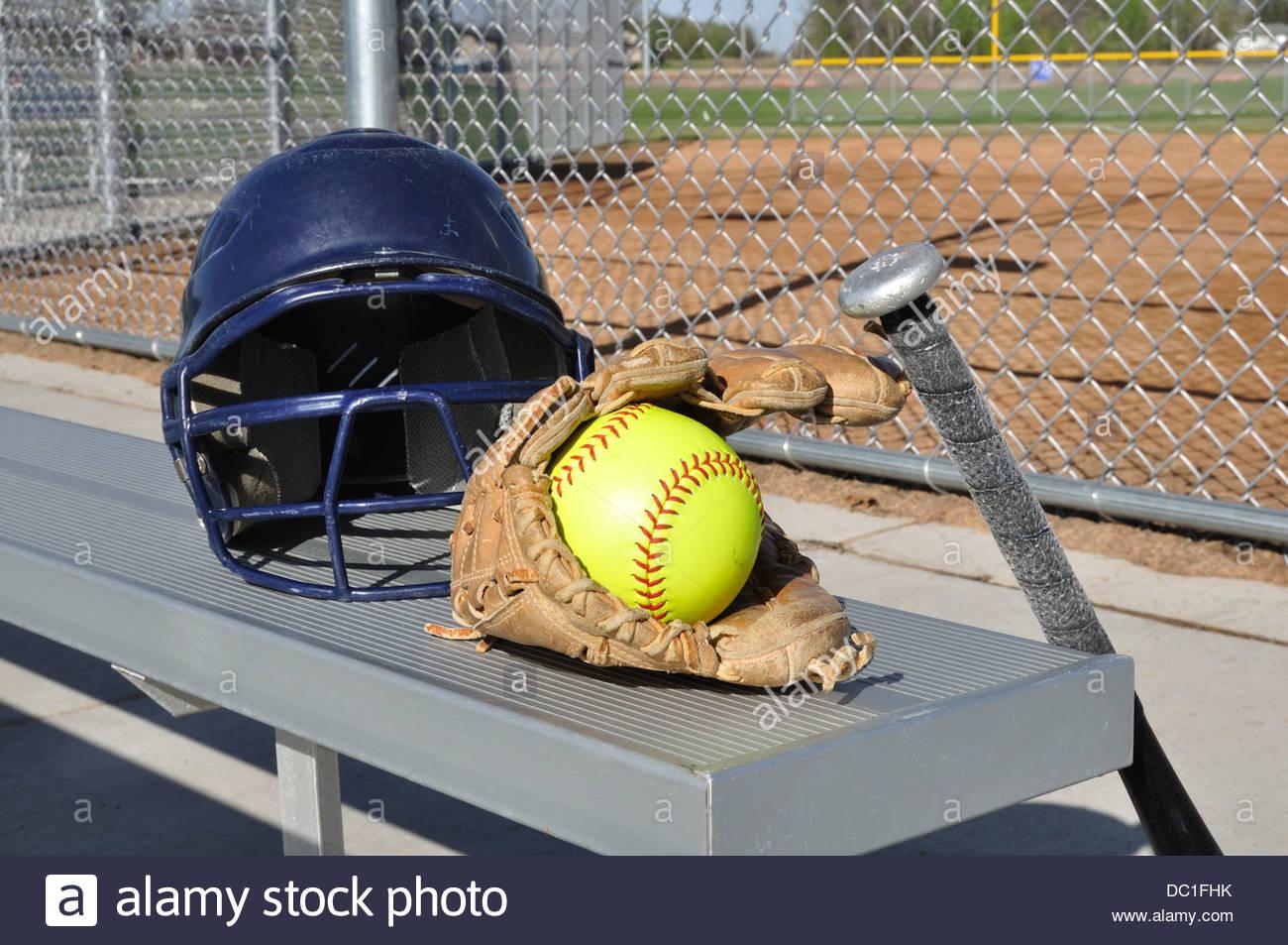 1300x953 Softball Bat Ball Glove Stock Photos Amp Softball Bat Ball Glove