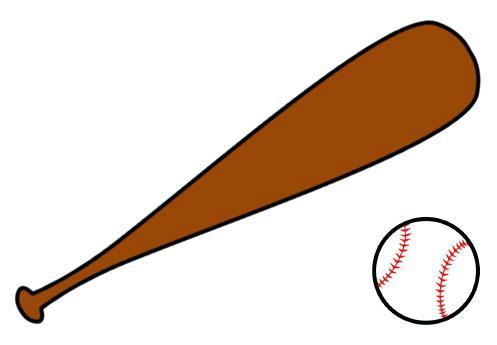 497x345 Softball Bats Clipart