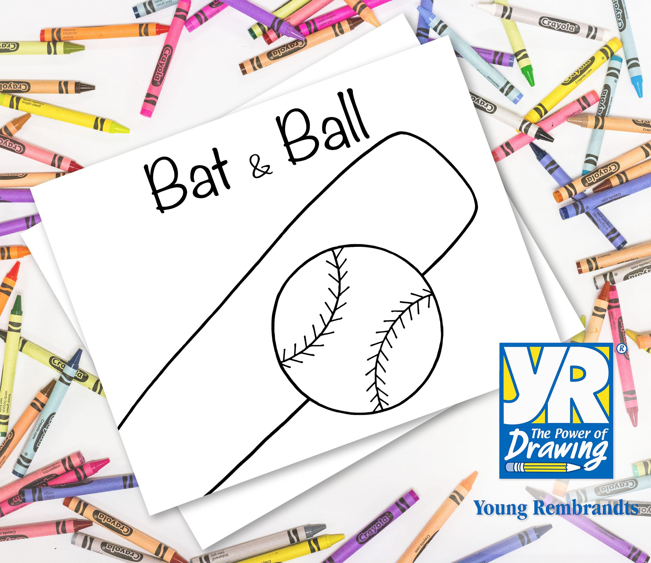 2185x1891 Teaching Kids How To Draw How To Draw A Baseball Bat Amp Ball