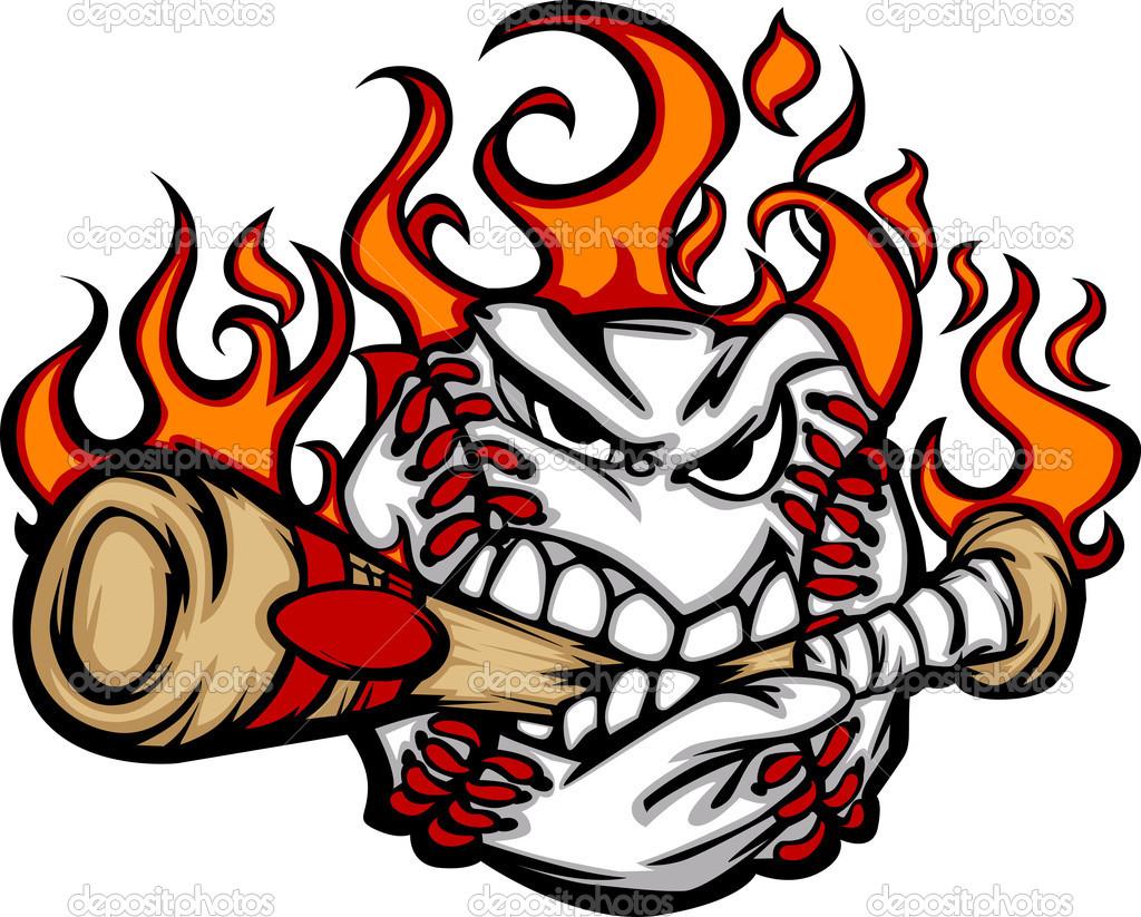 1024x823 Baseball Ball Vector Depositphotos 6769926 Baseball Flaming Face