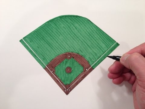 480x360 How To Draw A Baseball Field