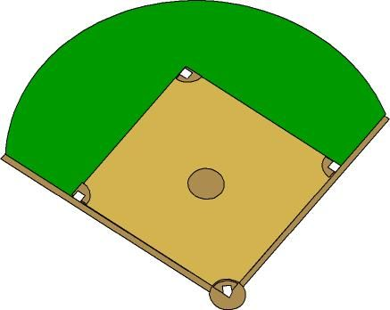 437x348 Softball Field Clipart