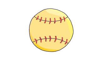 300x200 How To Draw A Softball