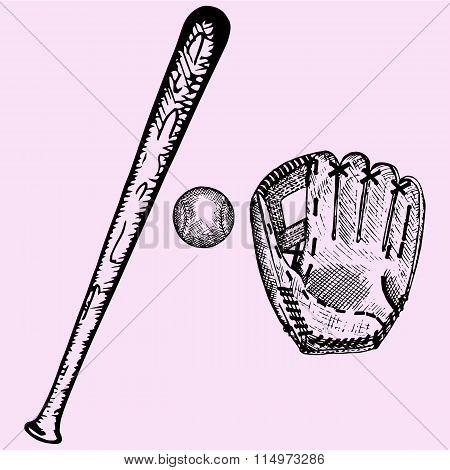 450x470 Baseball Bat, Ball Glove Vector Amp Photo Bigstock