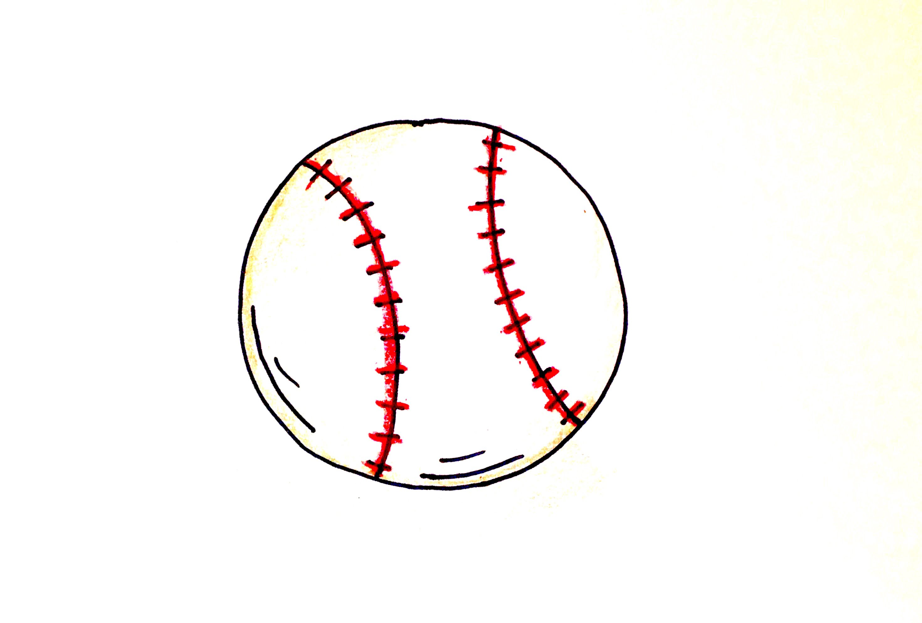 2941x1987 Drawing Lesson How To Draw A Baseball