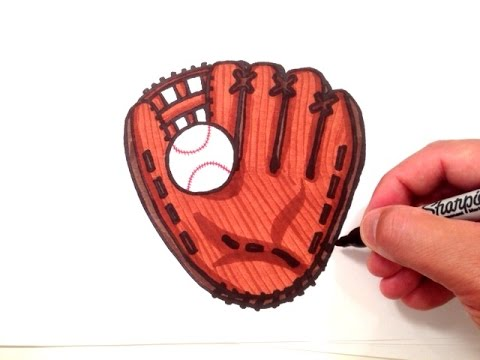 480x360 How To Draw A Baseball Glove