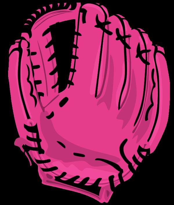 600x705 Softball Glove Clipart