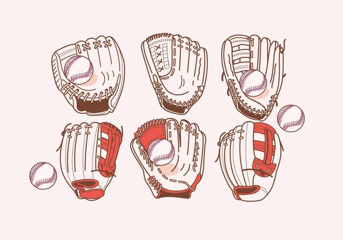 700x490 Softball Glove Vector