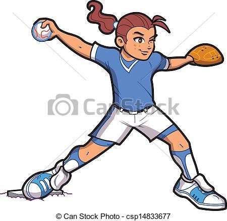 450x439 Girl Softball Pitcher. Girl Softball Baseball Pitcher