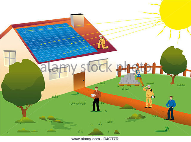 640x475 Drawing Home Solar Energy Diagnosis Stock Photos Amp Drawing Home