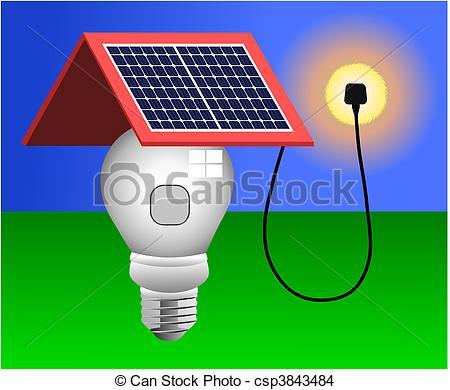 450x390 Solar Panels, Energy, Light Vector. Vector Illustration Of Eps