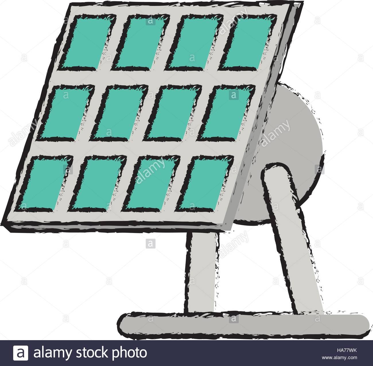 1300x1274 Drawn Solar Panel Renewable Energy Alternative Stock Vector Art