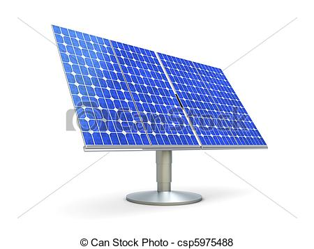 450x357 3d Rendered Illustration. A Single Solar Panel, Isolated