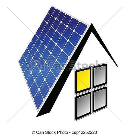 450x470 Solar Panels Vector Illustration Vector Illustration