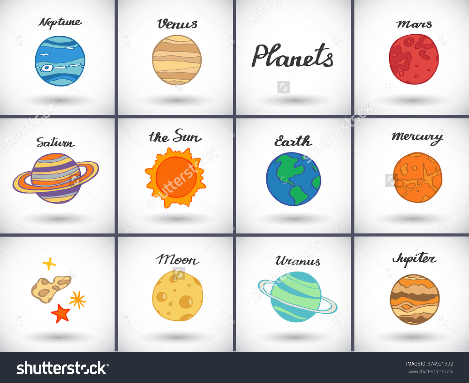 1500x1225 Solar System Planets Drawing