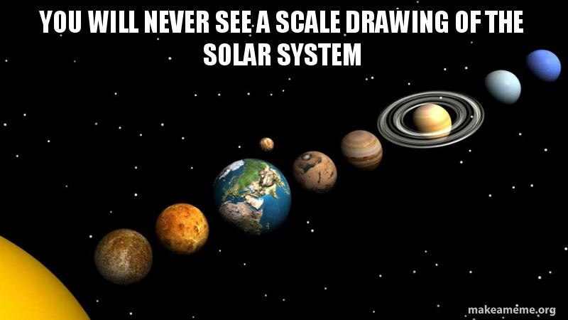 800x450 you will never see a scale drawing of the solar system