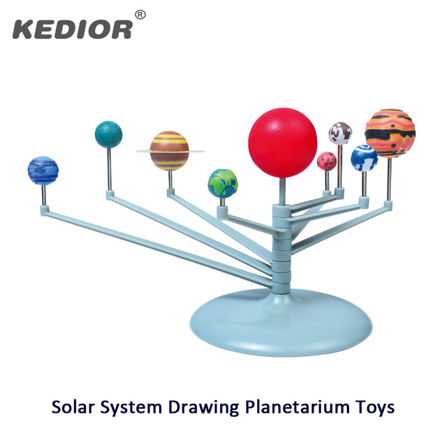 640x640 Kids Diy Painting Science Solar System Building Model Planetarium