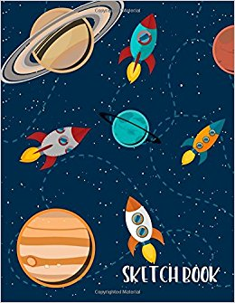 260x335 Sketch Book For Kids Solar System And Rockets Blank Drawing Book
