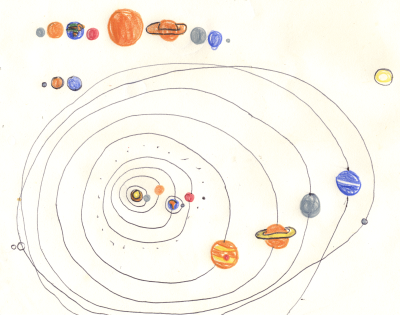 400x315 Solar System Drawing For Children