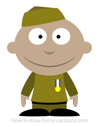 350x445 A Soldier Cartoon