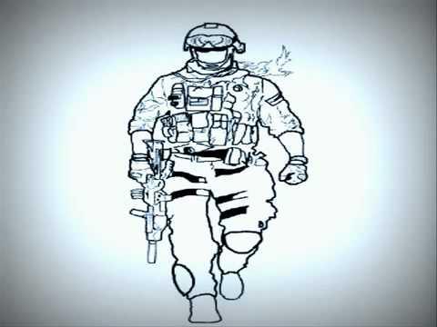 480x360 Battlefield 3 Soldier Drawing