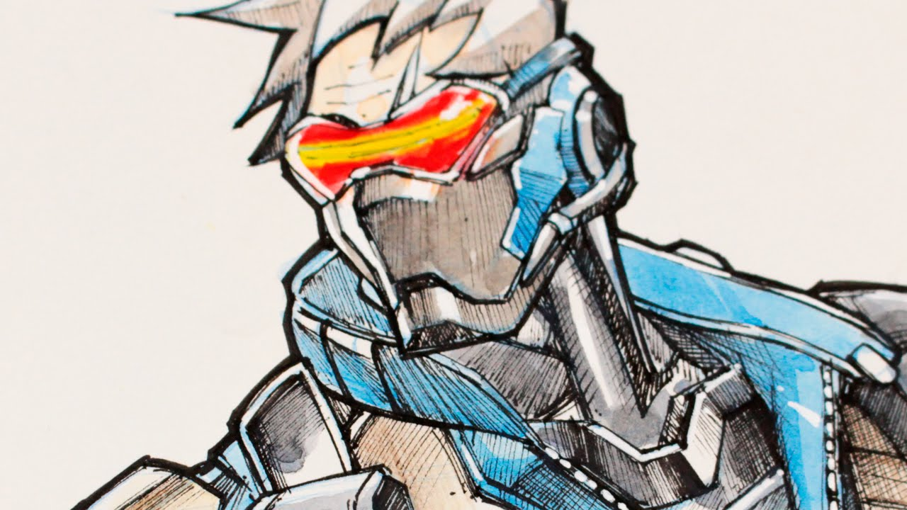 1280x720 Drawing Soldier 76