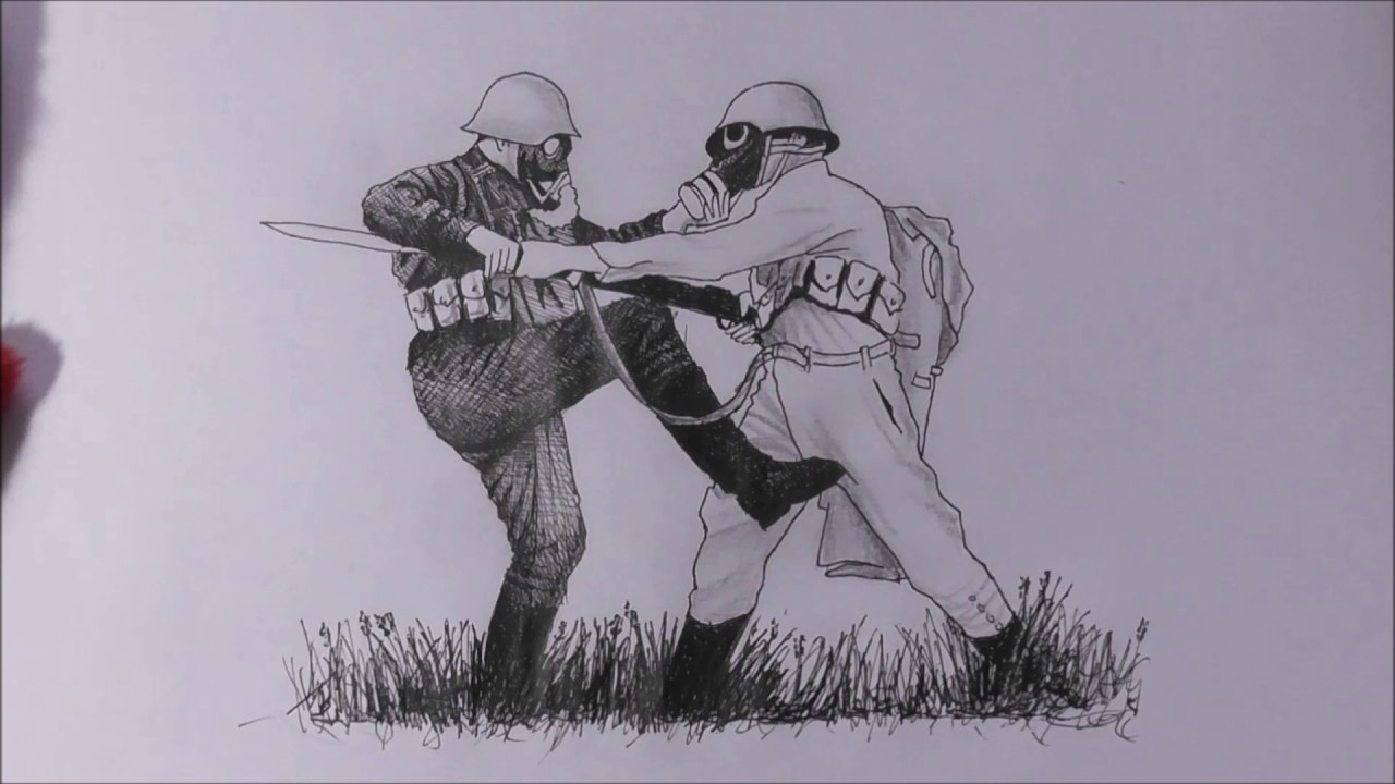 1280x720 Speed Drawing Fighting Soldiers.
