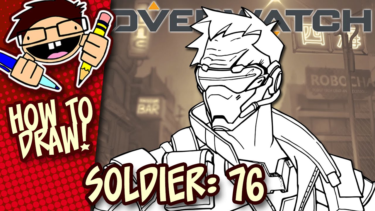 1280x720 How To Draw Soldier 76 (Overwatch) Easy Step By Step Drawing