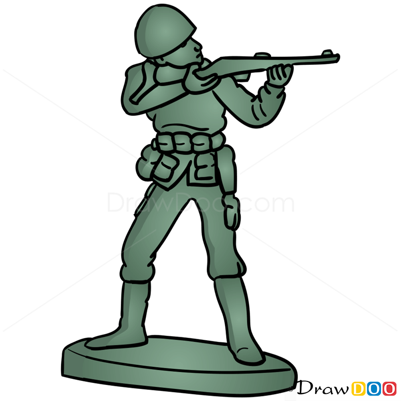 800x799 How To Draw Toy Soldier, Toy Story