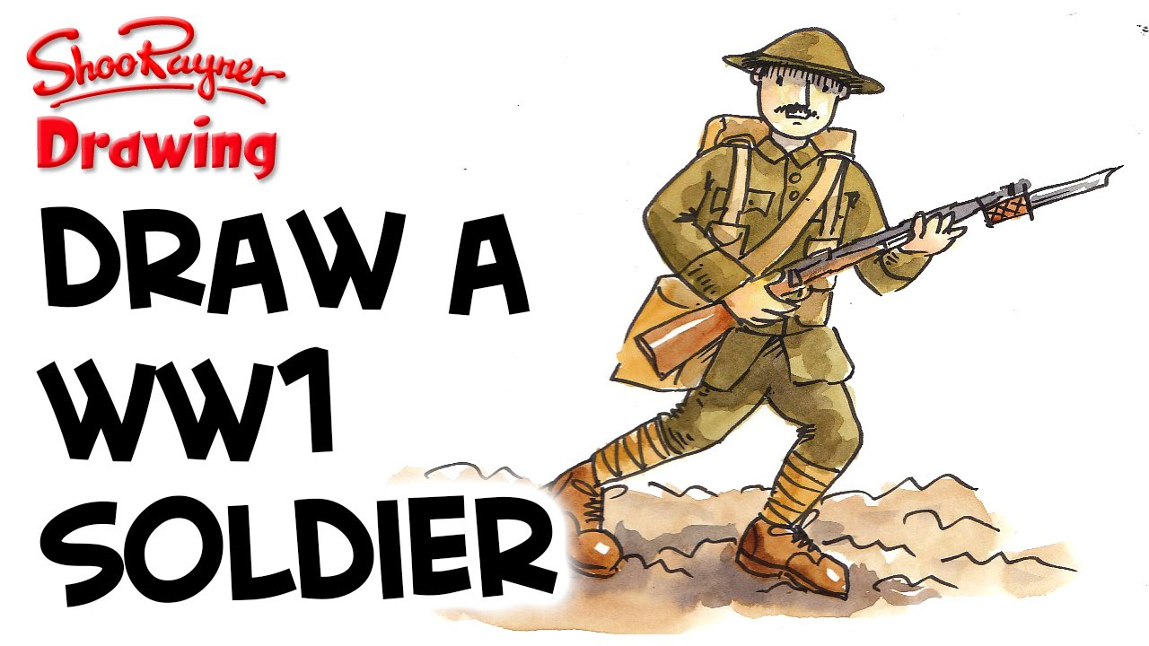 1280x720 How To Draw A Ww1 British Soldier