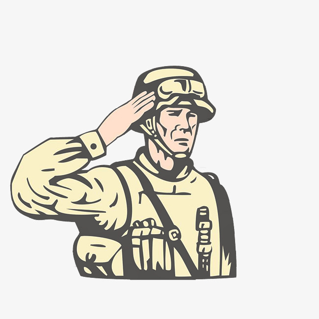 650x651 Foreign Soldiers Salute The Army, Junzi, Cartoon Hand Drawing Png