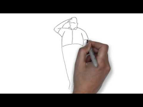 480x360 How To Draw A Black And White Image Of A Soldier Saluting