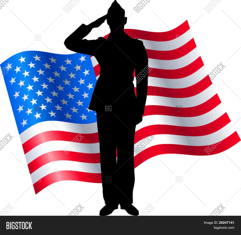 1500x1463 Vector Silhouette Soldier Saluting Vector Amp Photo Bigstock