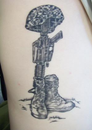 298x420 Fallen Soldier Battle Cross