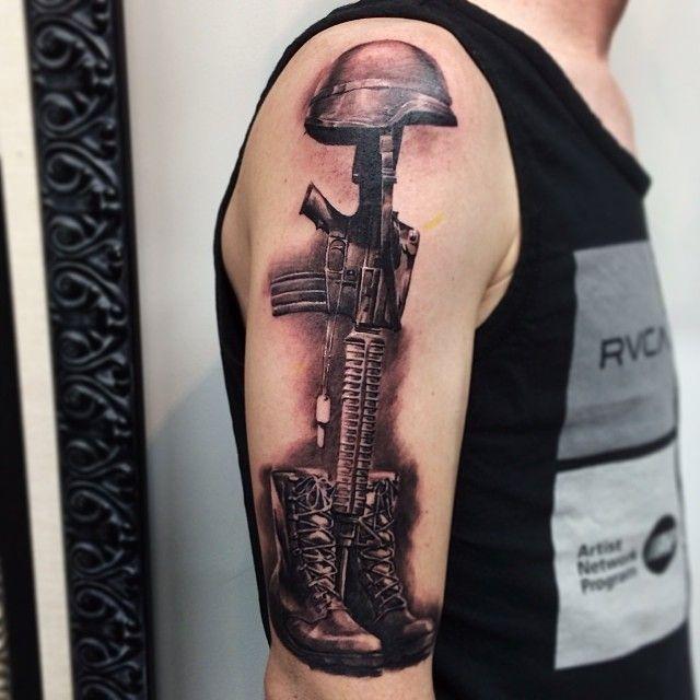 640x640 Soldiers Cross Tattoo