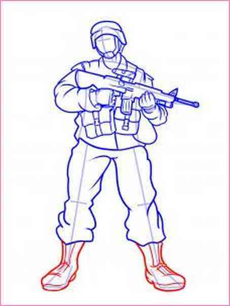 453x602 How To Draw Soldiers