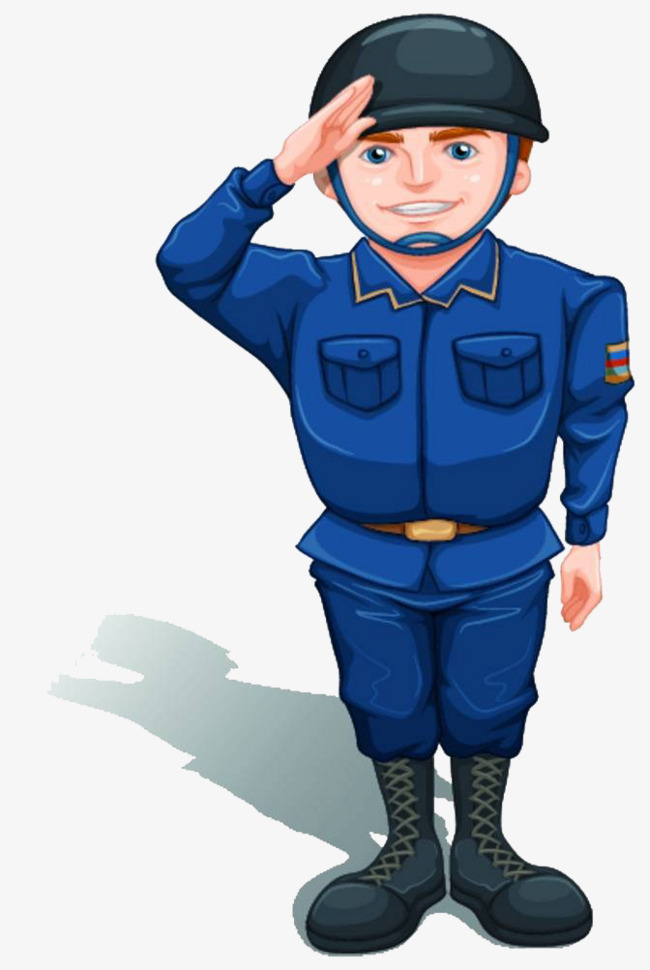 650x970 Saluting Soldiers, Cartoon Hand Drawing, Salute, Render Service