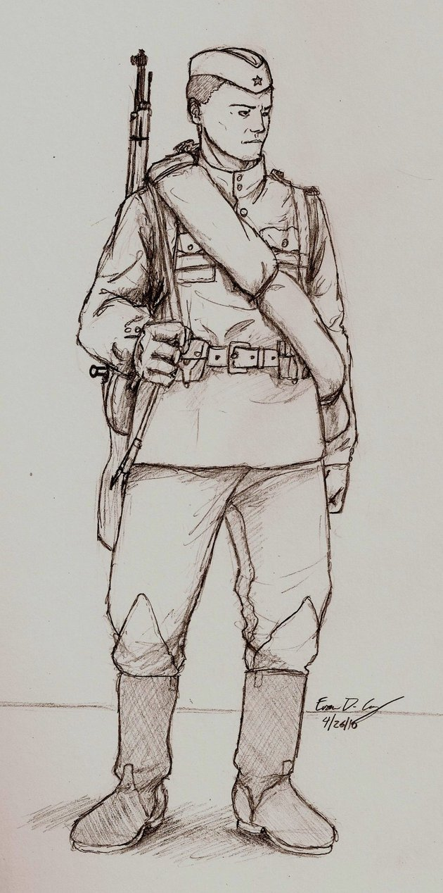 630x1268 Wwii Russian Soldier By Warman707.jpg War