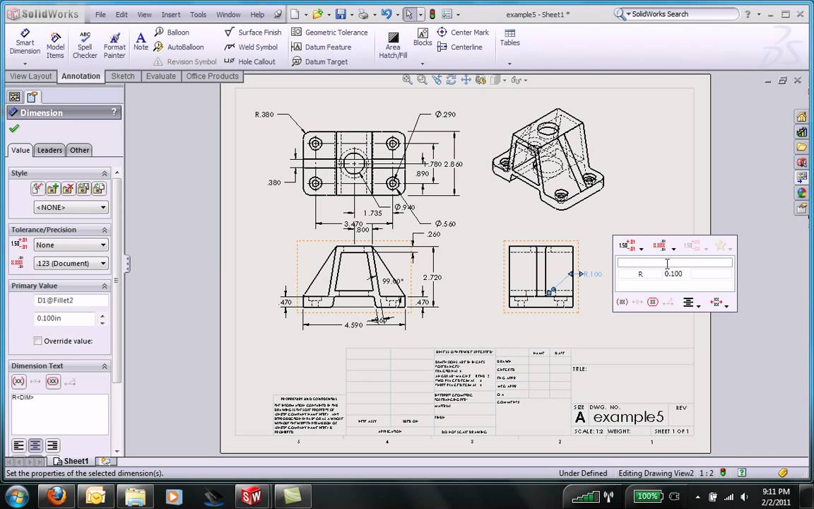 Solidworks Engineering Drawing At Getdrawings Free For