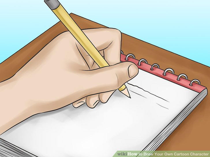 728x546 How To Draw Your Own Cartoon Character (With Pictures)
