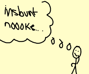300x250 Someone Thinking Of Insbunt Noooke (Drawing By Kiwijackie)