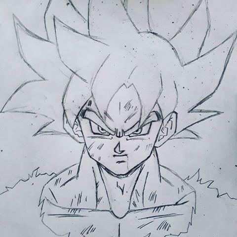 480x480 Goku Drawing Sketch Goku Goku Drawing, Drawing