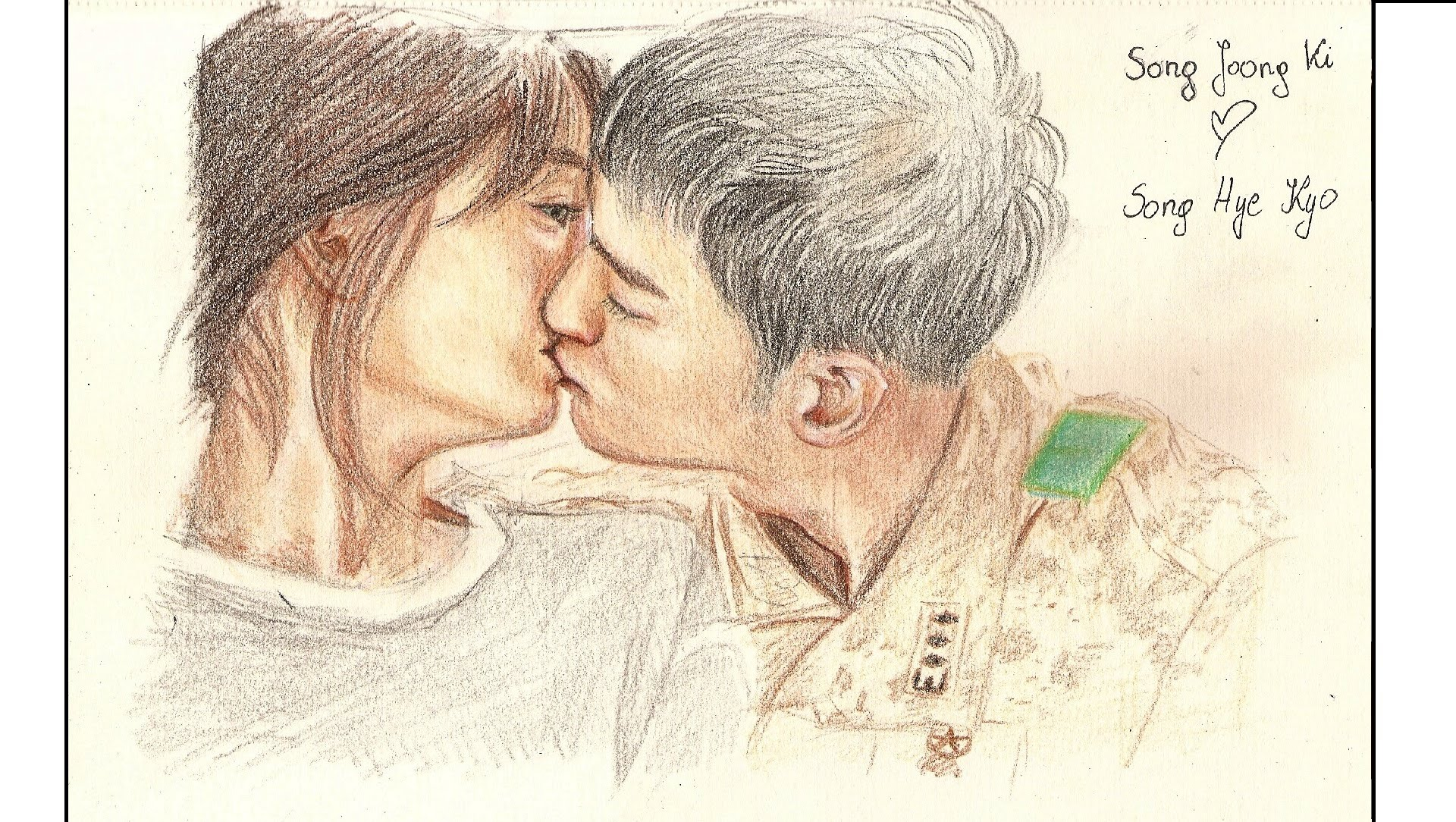 1920x1084 Song Joong Ki Kiss Song Hye Kyo Speed Drawing Descendants