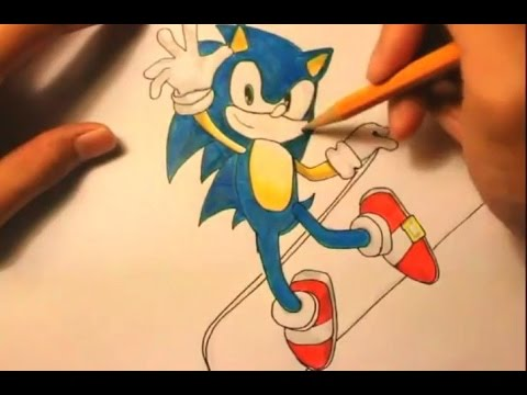 480x360 How To Draw Sonic The Hedgehogsonic Charactersstep By Step Easy