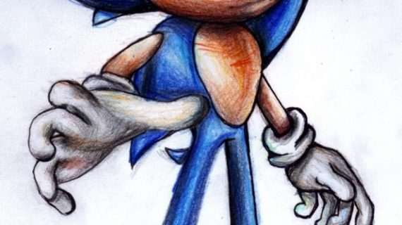 570x320 Sonic Drawings In Pencil Bad Sonic Pencil Drawing
